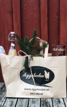 presentpåse till jul från äggaboden